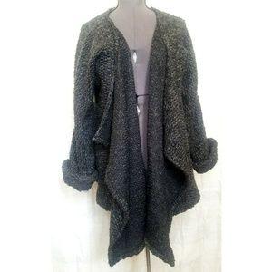 Zara oversized waterfall cardigan/jacket